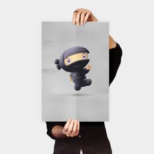 Flying Ninja Poster